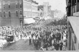 World War I sendoff parade, April 26, 1916, Oskaloosa, Iowa; Mahaska County