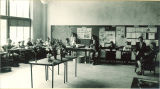 Classroom arranged for school open house, The University of Iowa, June 1926