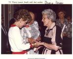 Mary Louise Smith with Nancy Reagan, Washington, D.C.?, 1980s