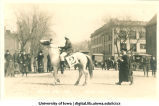 Horse in Mecca Day parade, The University of Iowa, 1916