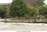 Flooding near English-Philosophy Building, The University of Iowa, June 15, 2008