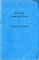 Catalog of De Luxe Publications by P. Neville Barnett