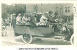 Baseball players in parade for Senior Frolic, The University of Iowa, 1910s