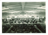 University orchestra concert in Main Lounge of Iowa Memorial Union, The University of Iowa, 1930s