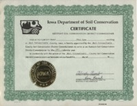 Certificate to appoint Mick Ryan as the Assistant Soil Conservation District Commissioner.