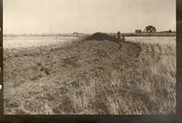 Two Older Photos Show Two Tractors Pulling a Plow and a Grain Drill