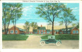 Street view of Children's Hospital, the University of Iowa, 1940s?