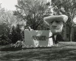 "Sigma Alpha Epsilon Fraternity Homecoming lawn display, """"InVinceable,"""" 1954"
