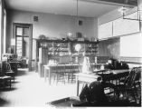 Geology Laboratory, north room, Old Science Hall, The University of Iowa, late 1890s or early 1900s