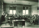 Moot court at Gilmore Hall, The University of Iowa, 1924