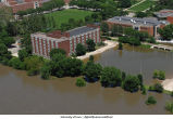 Aerial photographs of flooding near English-Philosophy Building, The University of Iowa, June 16, 2008