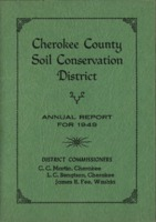 Cherokee County Soil Conservation District Annual Report - 1949
