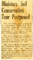 Minister soil conservation tour postponed.