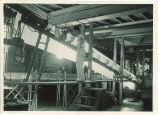 Engineering student in workshop, The University of Iowa, 1950s