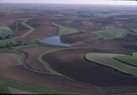 Contoured farmland and Crawford Creek
