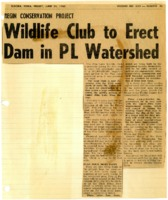 Wildlife club to erect dam in PL Watershed.