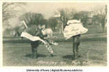 Bird costumes on Mecca Day, The University of Iowa, 1916
