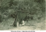 Camping shelter, The University of Iowa, 1930s