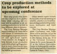 Crop Production Methods