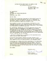 1966 memorandum of understanding between Lee County Soil Conservation District and the USDA.