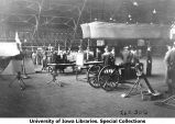 Weapons display in Armory, The University of Iowa, 1931