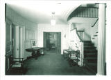Entrance hall in President's residence, The University of Iowa, April 25, 1948