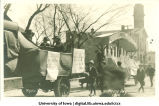 Athletic board scene on float in Mecca Day parade, The University of Iowa, 1919