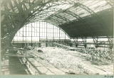 Interior construction of the Armory, the University of Iowa, 1920