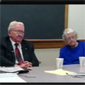 Ken Robinson and Mary Louise Robinson interview about journalism careers [part 1], Iowa City, Iowa, April 1, 1998