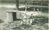 Students on playground, The University of Iowa, May 19, 1932