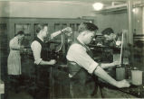 Geology students working in a laboratory, The University of Iowa, 1930s