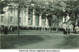 Commencement procession on east side of Old Capitol, The University of Iowa, 1910s