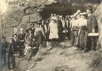 Group Near Cave