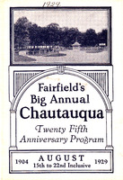 1929 Fairfield Chautauqua program
