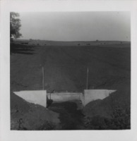 Willard Robinson drop spillway structure.