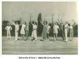 Tennis instruction, The University of Iowa, 1932
