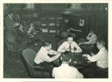 Students in the Law Commons lounge, the University of Iowa, fall 1948