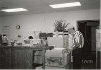 1995 - John Horan stands at the photocopy machine