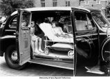 Young patients in an ambulance, The University of Iowa, August 1941