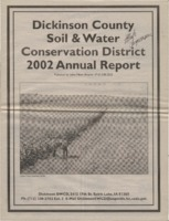 Dickinson County Soil Conservation District Annual Report - 2002.