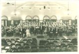 Orchestra, choir and soloists in Christmas concert at Iowa Memorial Union, December 1931