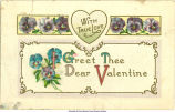 """With true love I greet thee dear valentine,"" February 13, 1900s"