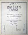 Standard Atlas of Iowa County, Iowa