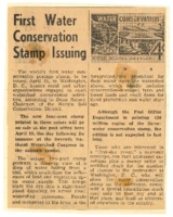 First water conservation stamp to be issued.