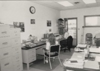 Debra Gaffey and Lisa Neidermeyer in the office.