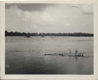 Flood water on A.H. Jennings' farm in Knoxville, Iowa.