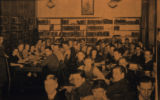 Oskaloosa High School Library Scene, Circa 1940; Iowa