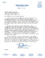 Letter From Senator Harkin