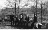 Left to right, Leverett, Calvin, Chamberlin, Bain, and Udden,  Geologists' Conference, Peoria, late 1890s or early 1900s