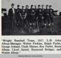 Wright High School Baseball Team, 1917; Mahaska County; Iowa